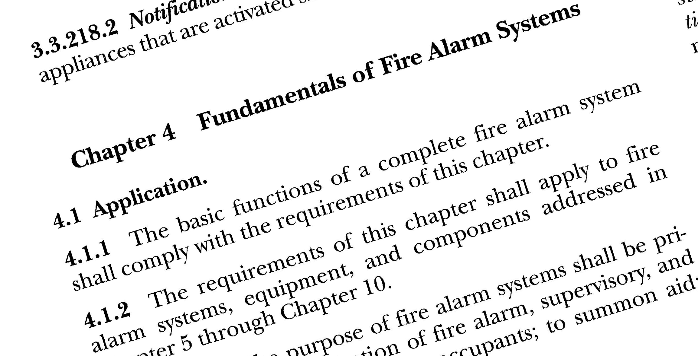 NFPA 72 - Chapter 4 Fundamentals of fire alarm systems